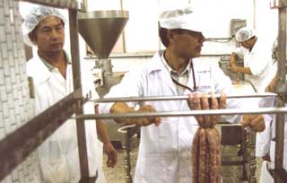 Figure 2 Processing Deboned Meat into Sausages