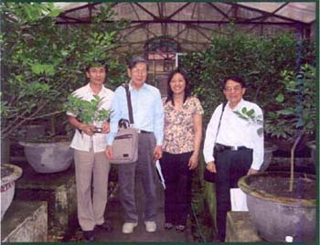 Figure 1 Visit to the Pathogen-Free Citrus Foundation Screenhouse at Ppri, Hanoi, Vietnam Donated by FFTC/RDF in 1996.