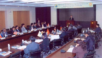 Figure 2 Participants and Guest during the Seminar's Opening Ceremony at the National Agricultural Cooperative Federation, Korea.