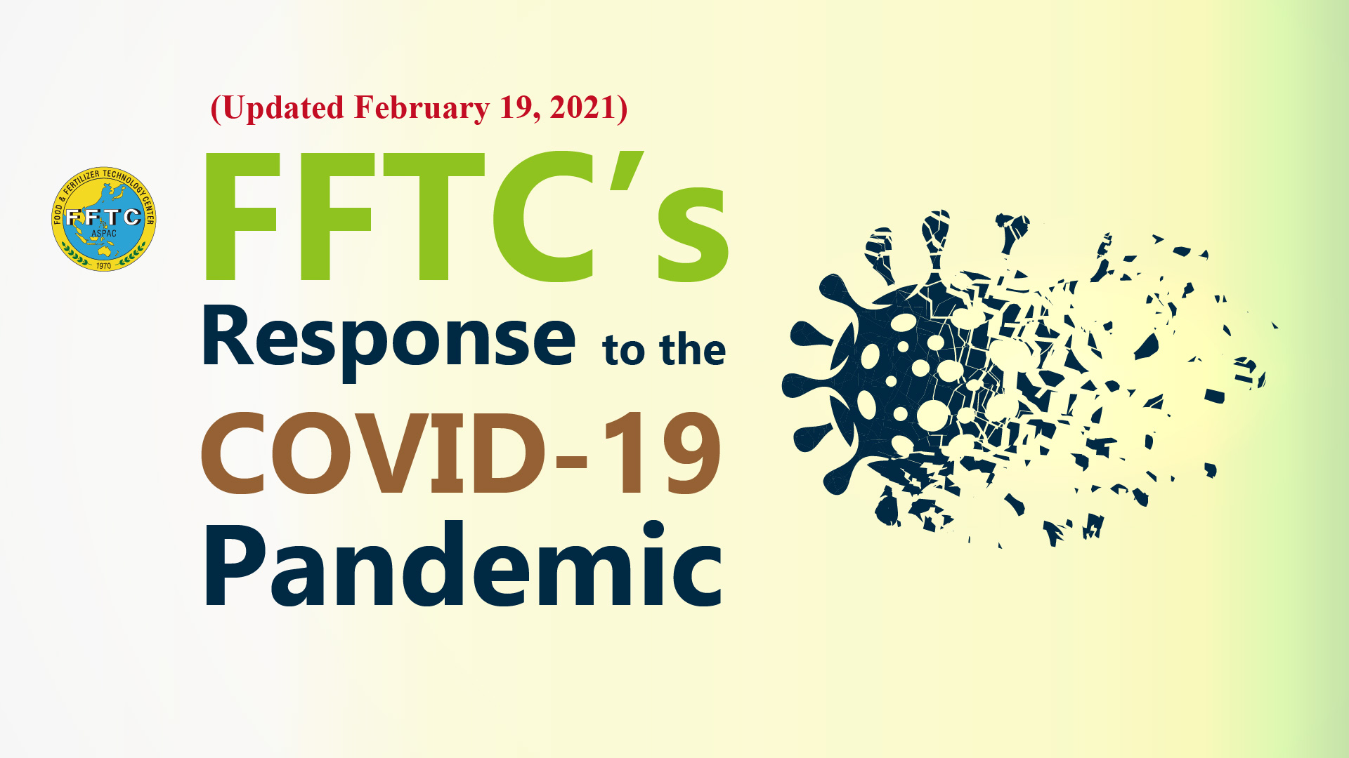 FFTC's response to the COVID-19 pandemic (Updated February 19, 2021)