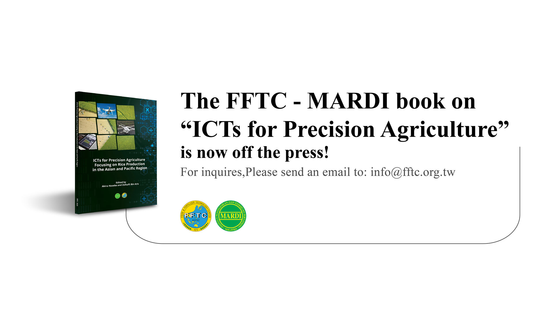 FFTC-MARDI book on ICTs for Precision Agriculture now off the press