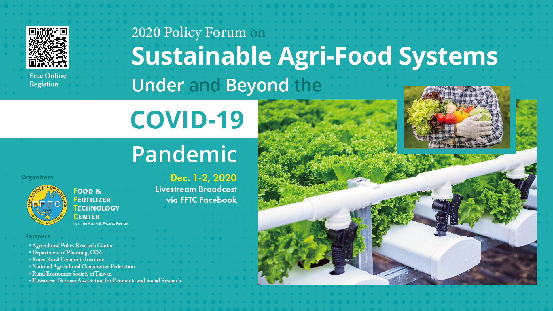 "2020 FFTC Policy Forum on ""Sustainable Agri-Food Systems Under and Beyond the COVID-19 Pandemic"""