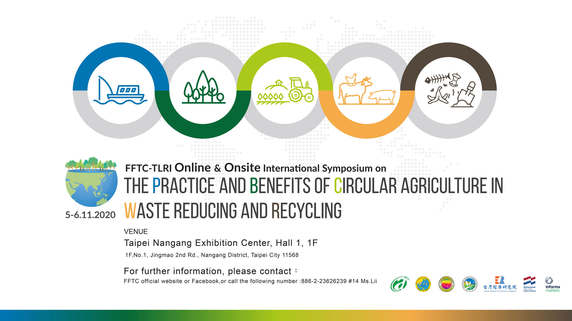 "FFTC-TLRI online and onsite International Symposium on ""The Practice and Benefits of Circular Agriculture in Waste Reducing and Recycling"""
